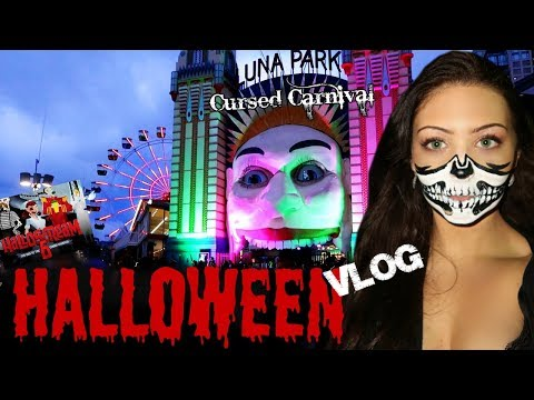 Luna Park Halloscream Haunted Theme Park - Vlog
