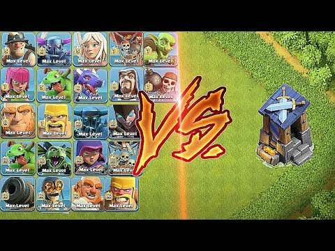 Max Guard Post vs Every single Troops | unbelievable attack - clash of clans