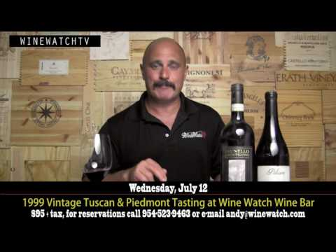 1999 Vintage Tuscan & Piedmont Tasting at Wine Watch Wine Bar - click image for video