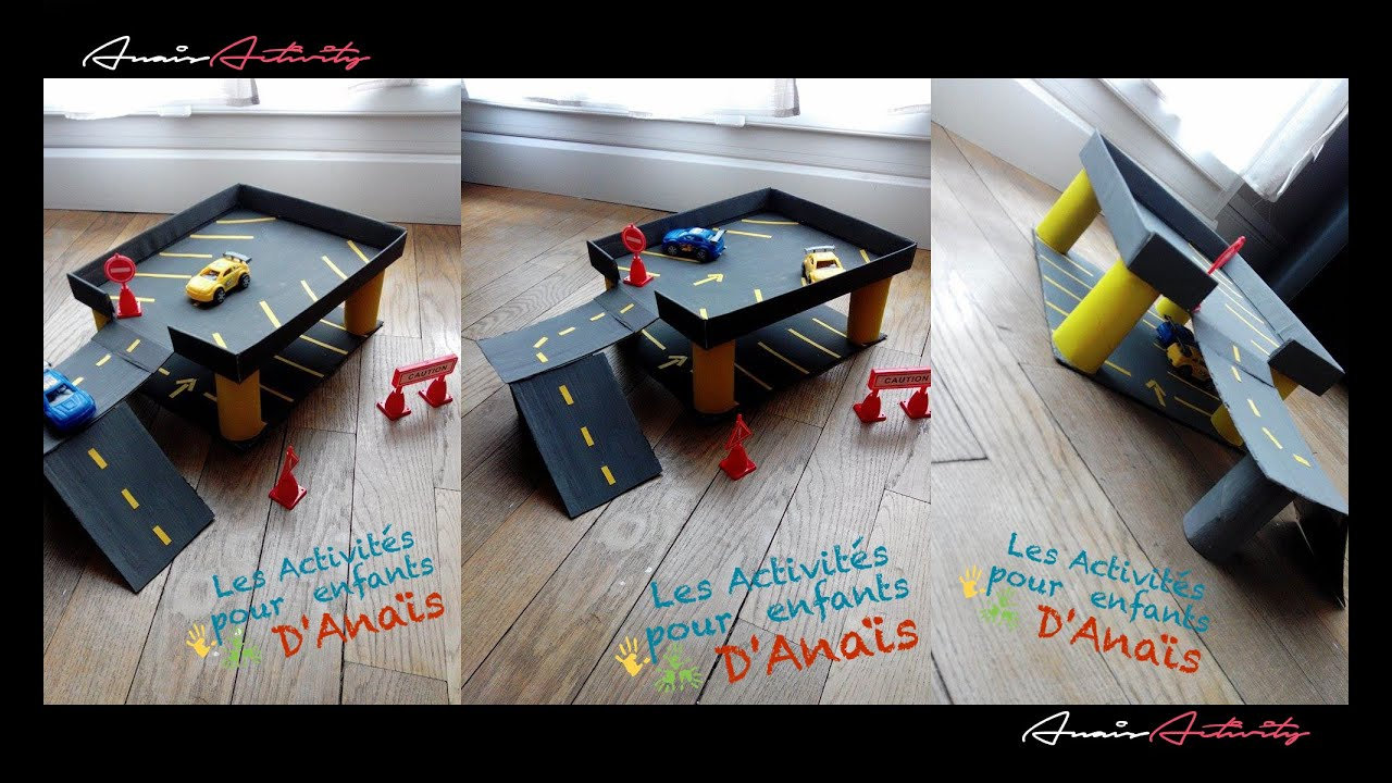 activit manuelle enfants garage voitures. Black Bedroom Furniture Sets. Home Design Ideas