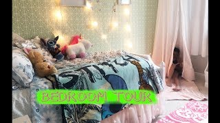 CUTEST TEENAGE BEDROOM TOUR | green wallpaper | bedroom sets for girls | K&R and the Family | #90