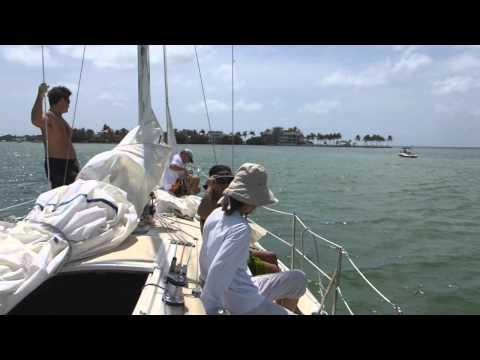 Sailing Biscayne Bay Miami, Florida