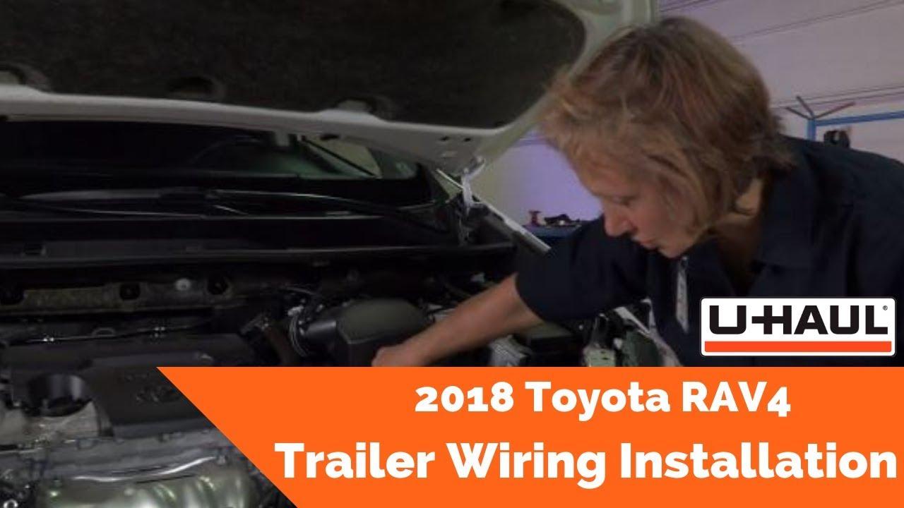 2018 toyota rav4 trailer wiring installation - youtube  youtube