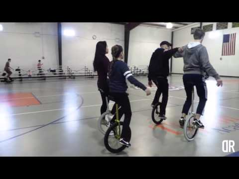 Unicycling with the Redford Township Unicycle Club
