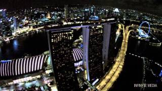 Night at the Garden   Gardens by the Bay   Singapore   DJI Phantom 2 Vision+   Aerial photography