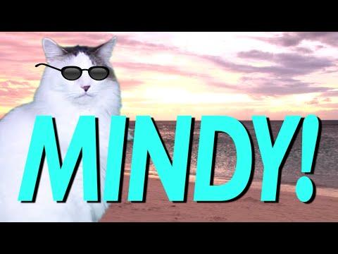 HAPPY BIRTHDAY MINDY! EPIC CAT Happy Birthday Song YouTube