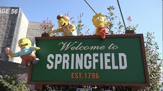 The Simpsons Springfield in Real Life! | Universal Studios Hollywood