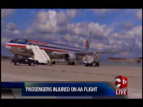 4 people taken to hospital from American Airlines flight