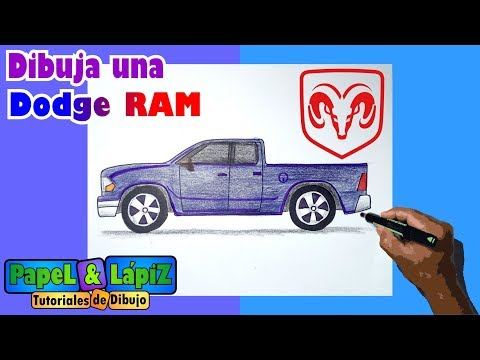Aprende A Dibujar Una Camioneta Dodge Ram Con Medidas Youtube
