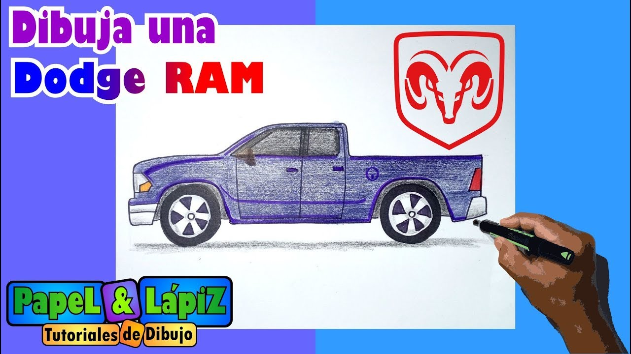 Aprende A Dibujar Una Camioneta Dodge Ram Con Medidas