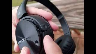 replacing battery on sony noise cancelling headphones mdr zx110nc