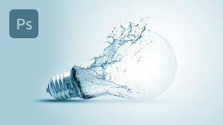 Lightbulb Splash Composite in Photoshop Tutorial