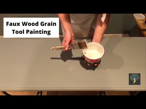 Faux Wood Grain Tool Painting