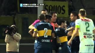 Calleri recibió una piña de Arias. Defensa 0 - Boca 0. Cuartos. Copa Argentina 2015. FPT.