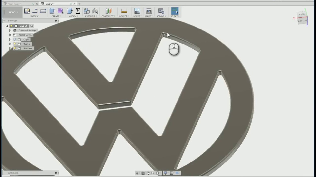 Volkswagen logo with Fusion 360