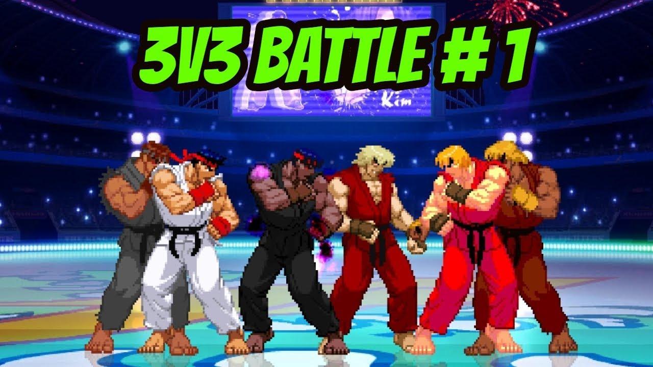3V3 BATTLE #1: Ryu ( Original / Evil / Demon) VS Ken (Original / Violent /  Demon)