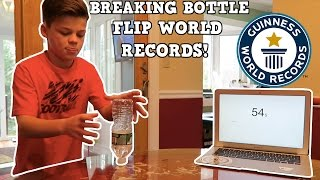 BREAKING BOTTLE FLIP WORLD RECORDS!!