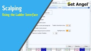Trading on Betfair - Example of scalping using the ladder interface