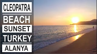Turkey: Sunset on Cleopatra beach in Alanya. Summer holidays