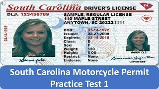 South Carolina Motorcycle Permit Practice Test 1