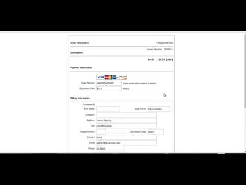 Demo Authorize payment gateway