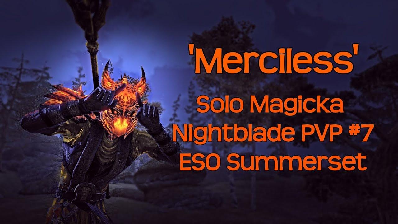 'Merciless' | Solo Magicka Nightblade PVP Gameplay #7 | ESO Summerset