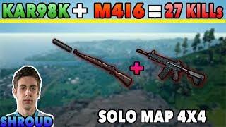 PUBG Shroud Solo Map 4x4 l M416 Kar98k Gim Thanh l 27 KIlls l Full Game