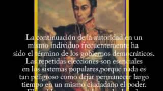 Hugo Chavez: escucha lo que te ordenó Simon Bolivar en Angostura ya en 1819 NO CHAVEZ / PSUV