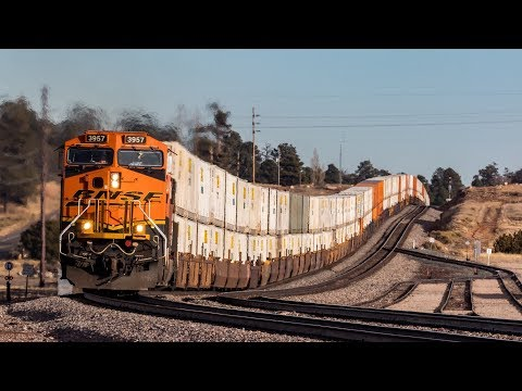 [HD] Trains on the BNSF Seligman Sub End of 2018