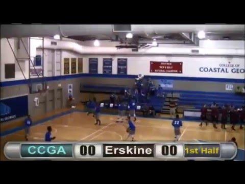 (#22 G Derrick Frye) College of Coastal Georgia vs Erskine