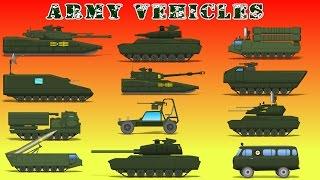 Armee Fahrzeuge | Auto-Videos Für Kinder - | Militär-Karikaturen