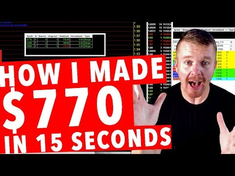 HOW I MADE $770 DOLLARS IN 15 SECONDS! DAY TRADING LIVE!