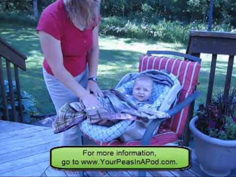 How to Place Baby In and Out of the Car Seat with Baby Sling - YouTube