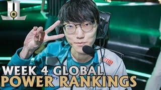 Week 4 Global LoL Power Rankings   July 8th, 2020 Summer