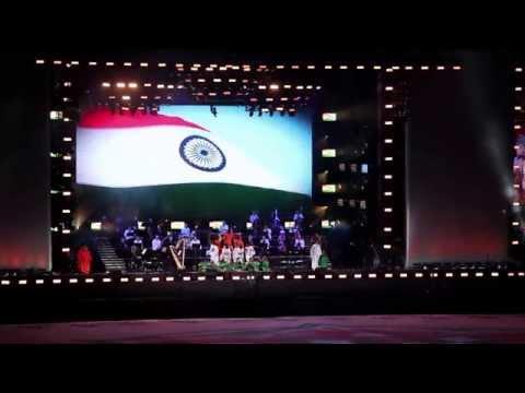 SHIAMAK - The Dance Academy perform to an instrumental rendition of Vande Mataram #ModiInUK