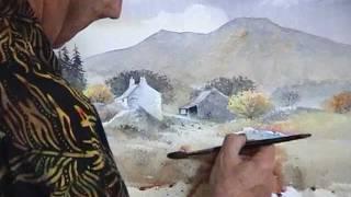 David Bellamy demonstrates a farmyard in watercolour