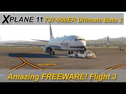 Repeat X-plane 11: 737-900 Ultimate Beta 1807 - Night flight