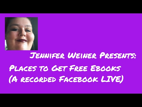 Places to Get Free Ebooks and More With Jennifer Weiner Author.