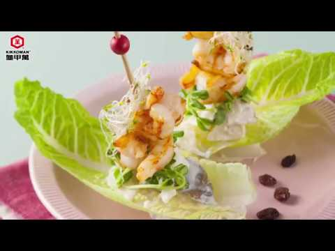 【龜甲萬】鮮蝦、苦瓜優格馬鈴薯沙拉,把苦瓜變好吃