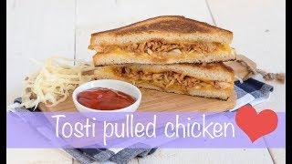 tosti pulled chicken met wittekoolsalade keuken❤️liefde
