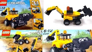 Lego Digger And Dump Truck Construction Vehicles | Kids Toys | 3 in 1