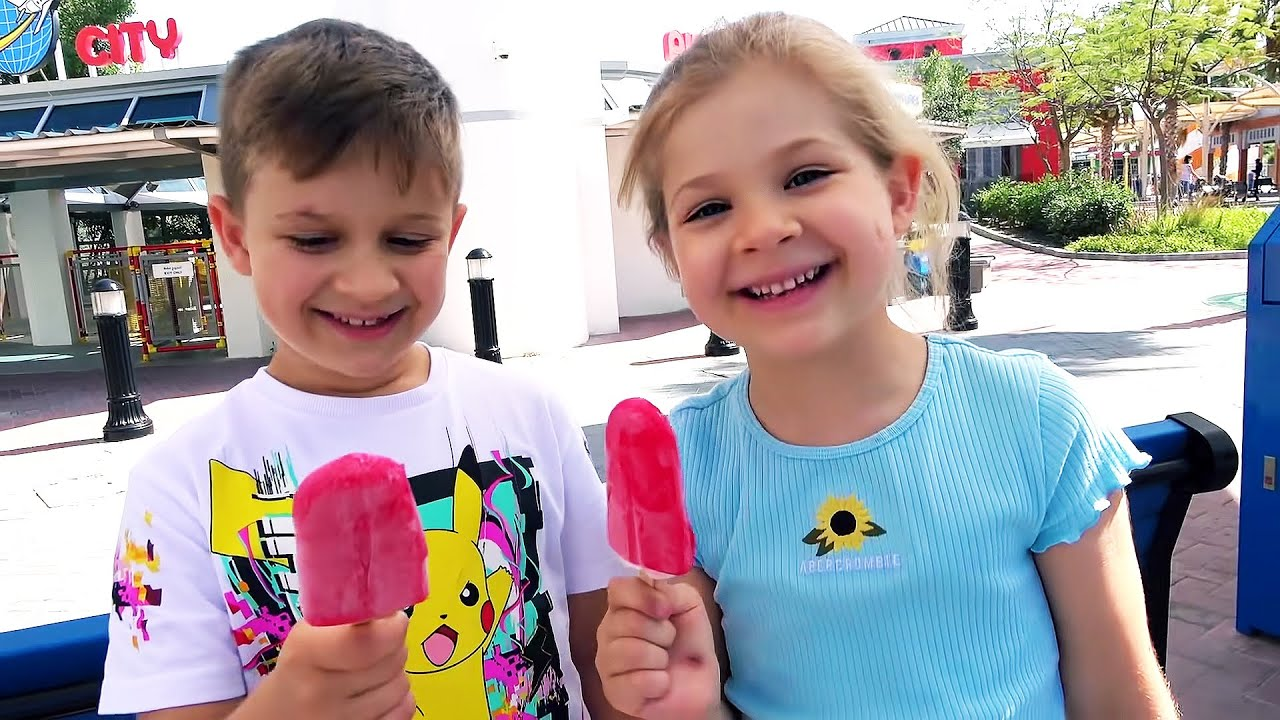 Diana and Roma at Legoland in Dubai Amusement Park Family Fun for kids!