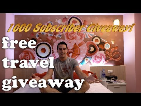 FREE TRAVEL GIVEAWAY!! Massive 1k Subscriber Giveaway (plus kittens and puppies)