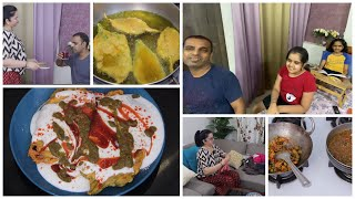 I am Pregnant? Crispy Palak Patta Chaat & Palak Pakora Recipe | Indian Family REALISTIC Day Vlog