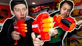 NERF WAR | ILLEGAL MODDED TRI-BREAK (Review)