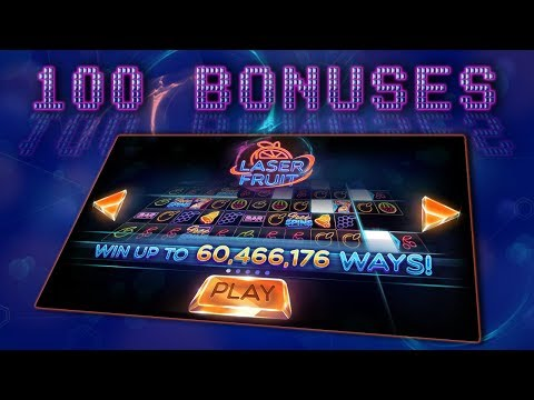 LASER FRUIT (RED TIGER) - MAX PAYLINES! | 100 BONUSES + NEW GAME