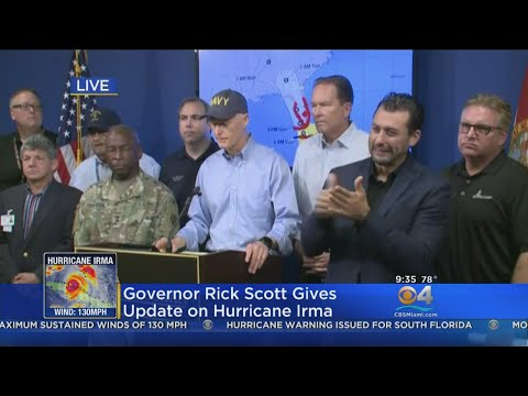 Florida Governor Rick Scott Urging Locals To Take Shelter As Irma Arrives