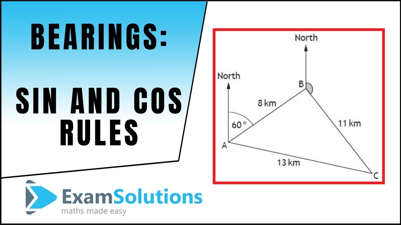 Sine Cosine Rules Applied To Bearings Examsolutions Maths Revision Youtube [ 720 x 1280 Pixel ]
