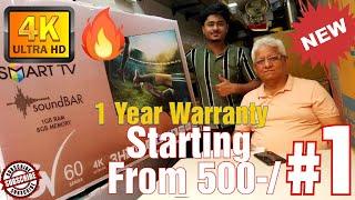 4K LED TV Starting From 500-/R…