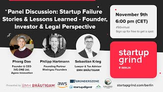 Startup Grind Berlin: F*CK UP NIGHT - Startup Failure Stories & Lessons Learned